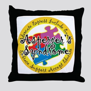 Asperger-Syndrome-Puzzle-Pin Throw Pillow