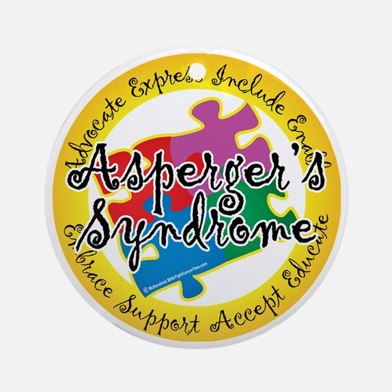 Asperger-Syndrome-Puzzle-Pin Round Ornament