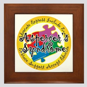 Asperger-Syndrome-Puzzle-Pin Framed Tile