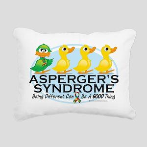 Aspergers-Ugly-Duckling Rectangular Canvas Pillow