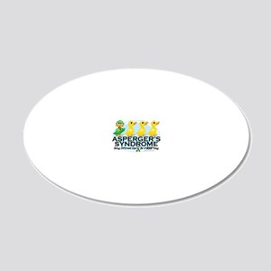 Aspergers-Ugly-Duckling 20x12 Oval Wall Decal
