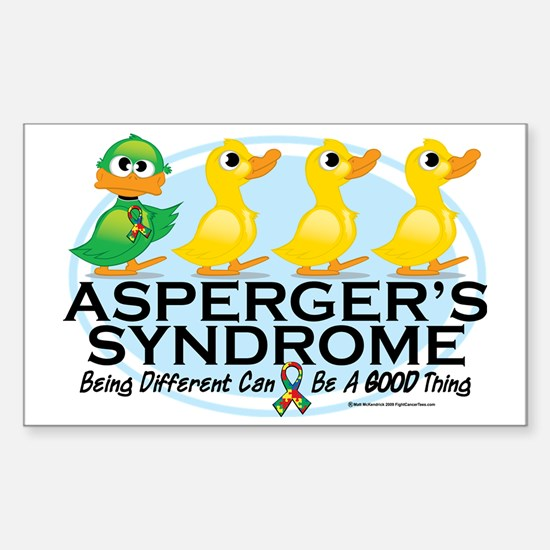 Aspergers-Ugly-Duckling Sticker (Rectangle)