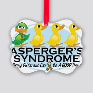 Aspergers-Ugly-Duckling Picture Ornament