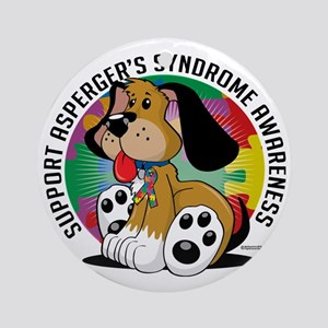 Aspergers-Syndrome-Dog Round Ornament