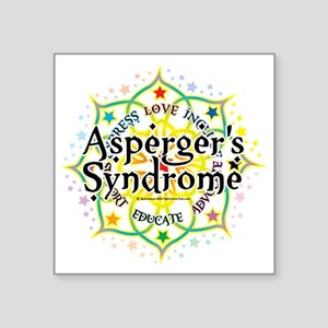 "Aspergers-Syndrome-Lotus Square Sticker 3"" x 3"""