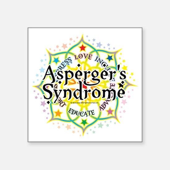 "Aspergers-Syndrome-Lotus Square Sticker 3"" x 3"""