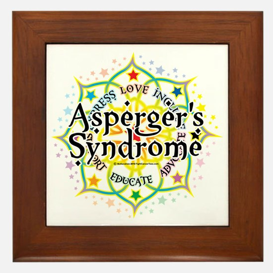 Aspergers-Syndrome-Lotus Framed Tile