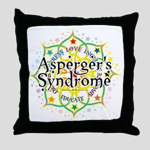 Aspergers-Syndrome-Lotus Throw Pillow