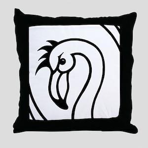 flamingo trans Throw Pillow