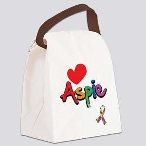 I-Love-My-Aspie-Daughter-blk Canvas Lunch Bag