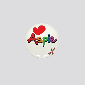 I-Love-My-Aspie-Daughter-blk Mini Button