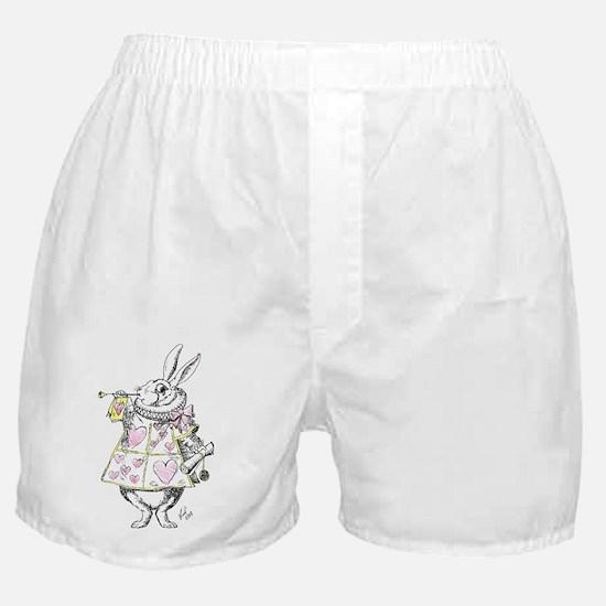 white rabbit 001 Boxer Shorts