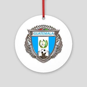 Guatemala Soccer Gym Bag Round Ornament