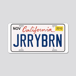 Jerry Brown-NonT Aluminum License Plate