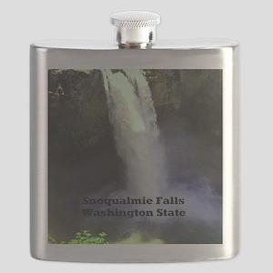 Snoqualmie Falls Washington State Flask