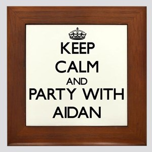 Keep Calm and Party with Aidan Framed Tile