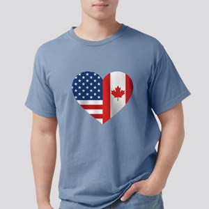 Canadian American Flag L Mens Comfort Colors Shirt