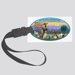 OVAL - St Francis-Pocono - Bless Large Luggage Tag