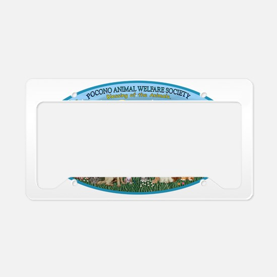 OVAL - St Francis-Pocono - Bl License Plate Holder