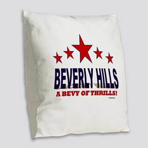 Beverly Hills A Bevy Of Thrills Burlap Throw Pillo