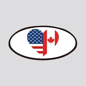 Canadian American Flag Love Patch
