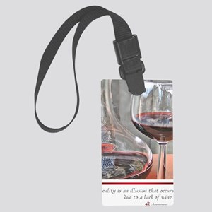 10 RED WINE QUOTE Large Luggage Tag