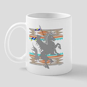INDIAN ON HORSE Mug