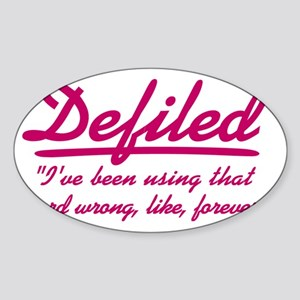 cougar-town_defiled Sticker (Oval)