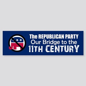 BRIDGE TO 11TH CENTURY Bumper Sticker