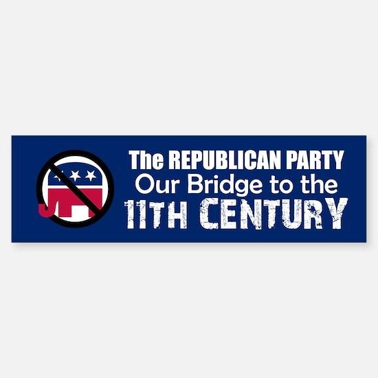 BRIDGE TO 11TH CENTURY Bumper Bumper Bumper Sticker