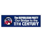 BRIDGE TO 11TH CENTURY Bumper Sticker