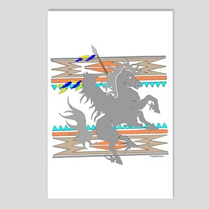 INDIAN ON HORSE Postcards (Package of 8)
