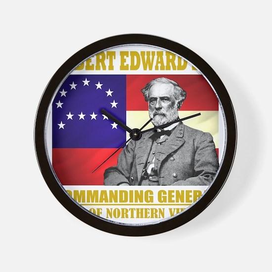 Robert E Lee -in command Wall Clock