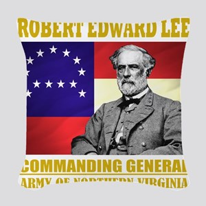 Robert E Lee -in command Woven Throw Pillow