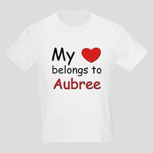 My heart belongs to aubree Kids T-Shirt