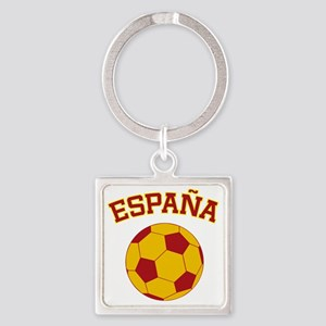 soccerballES Square Keychain
