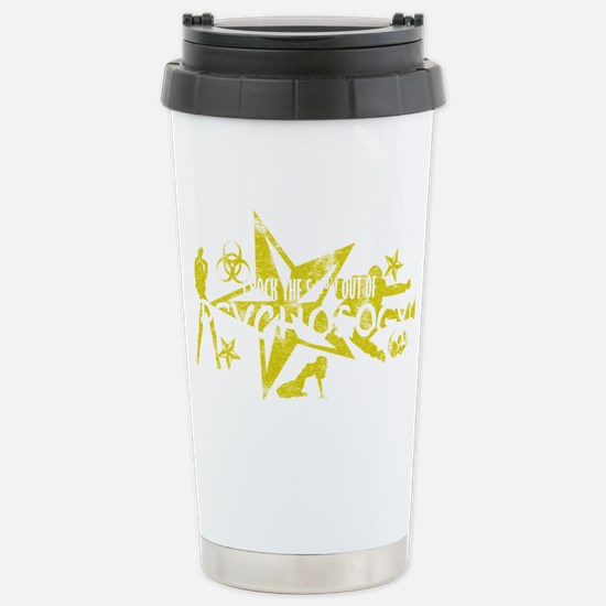 PSYCH WHT Stainless Steel Travel Mug