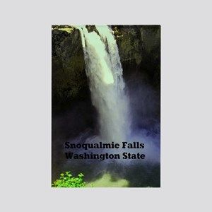 Snoqualmie Falls Washington State Rectangle Magnet