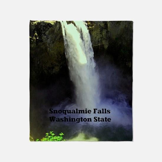 Snoqualmie Falls Washington State23x Throw Blanket