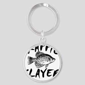 CRAPPIE SLAYER 4 WHITE Round Keychain