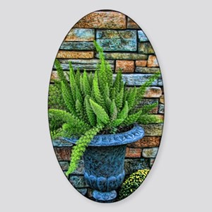 Fern in a pot Sticker (Oval)