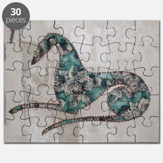Wild Aqua Rose Puzzle