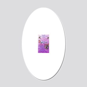 3 20x12 Oval Wall Decal
