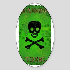 Toxic_280_H_SIGG copy Sticker (Oval)