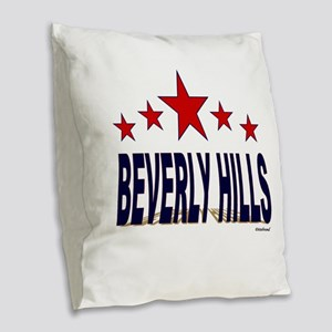Beverly Hills Burlap Throw Pillow