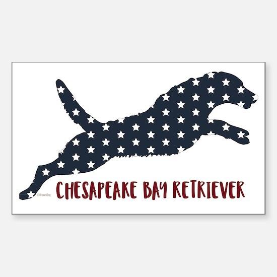 Unique Chesapeake bay retriever Sticker (Rectangle)