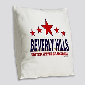 Beverly Hills U.S.A. Burlap Throw Pillow