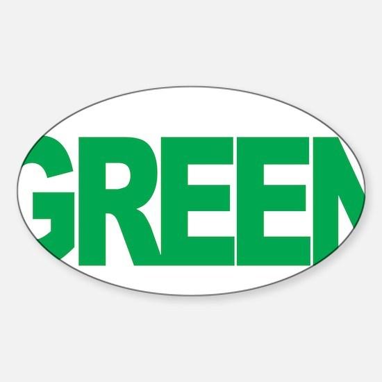 Bipolar-Disorder-THINK-Green-blk Sticker (Oval)