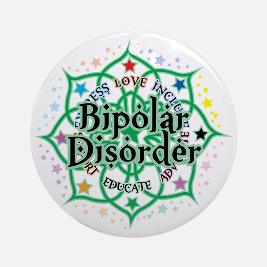 Bipolar-Disorder-Lotus Round Ornament