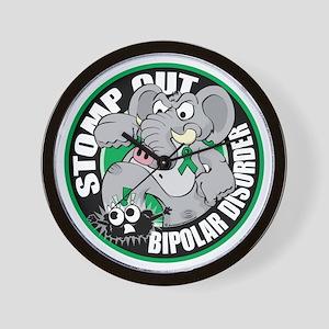 Stomp-Out-Bipolar-Disorder-Circle Wall Clock